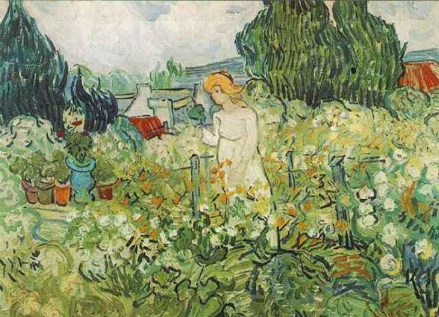 Van Gogh, Marguerite Gachet nel giardino