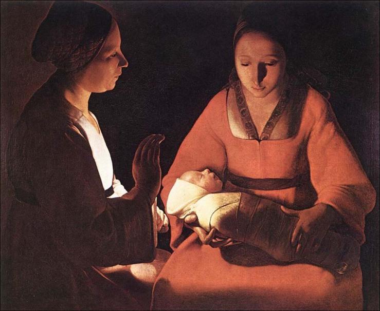"""""""Il neonato"""" di G. de la Tour"""
