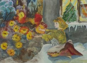 illustrazione di Basko Tamara, 14 anni, allieva della scuola d'arte P.I.Chaykovskiy.