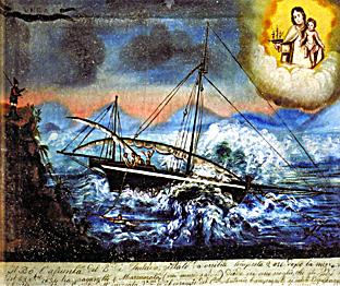 ex voto alla Madonna di Bonaria