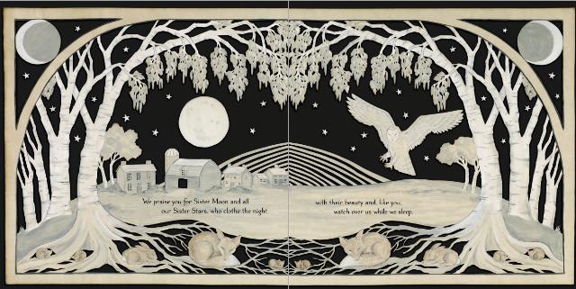 Laudato si', mi' Signore, per sora luna e le stelle: in celu l'ài formate clarite et pretiose et belle.