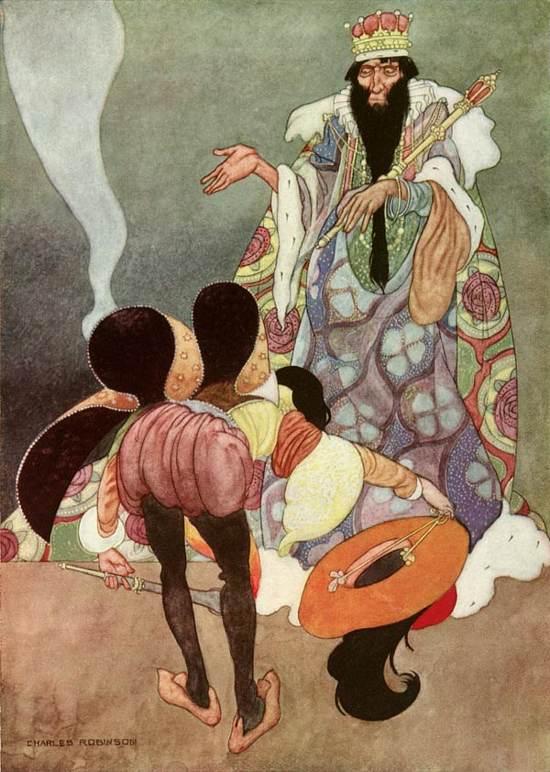 """Charles Robinson (1870-1937) illustrazione per """"Il Razzo Eccezionale"""" di O.Wilde"""
