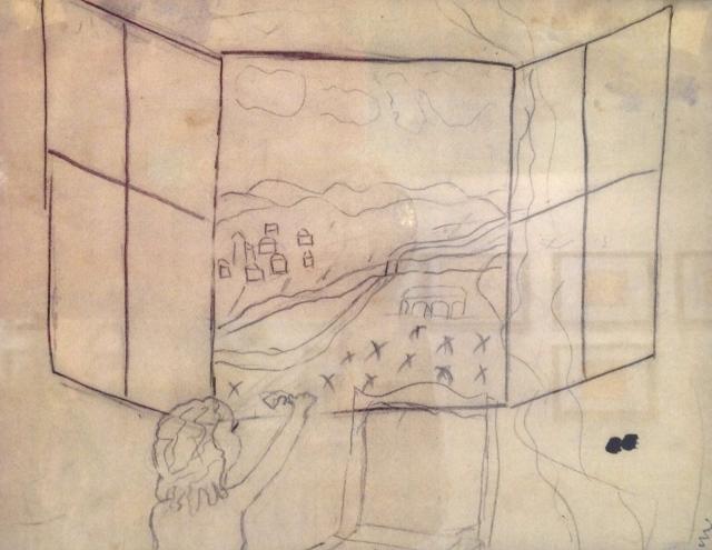 Artista sconosciuto, Vista dalla finestra
