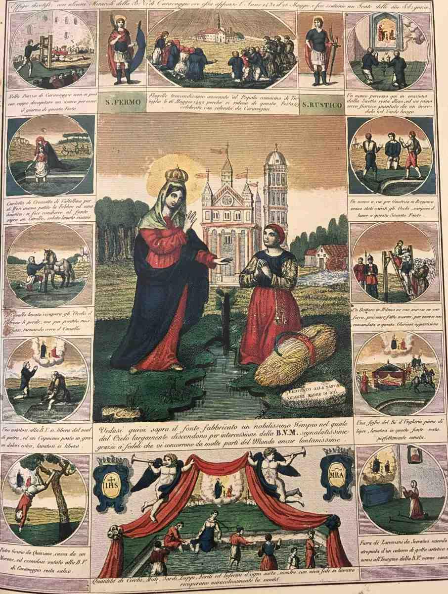 26 Maggio, festa dell'apparizione della Madonna di Caravaggio. La bella storia da raccontare ai bambini