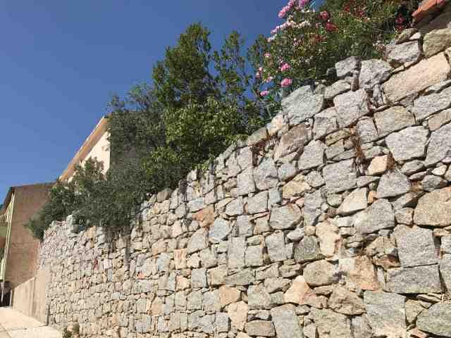 il muro del giardino