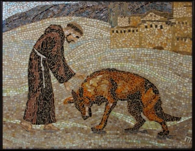 St-Francis-with-the-wolf