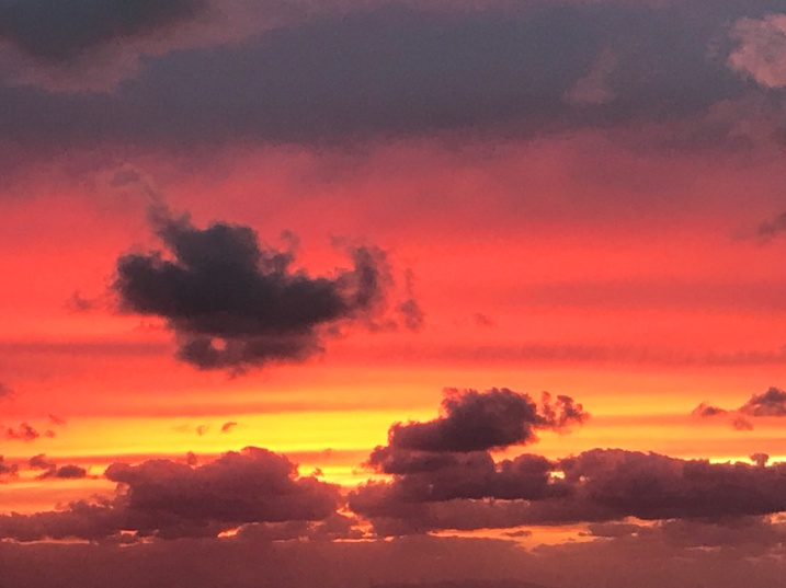 tramonto rosso