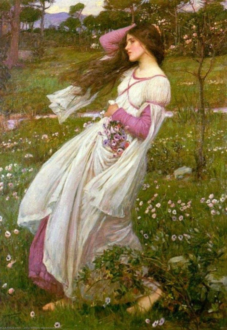 Windflowers by_John_William_Waterhouse