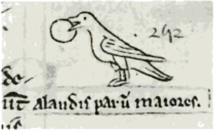 Matthew_Paris_1251_sketch_of_Crossbill_eating_fruit.jpg