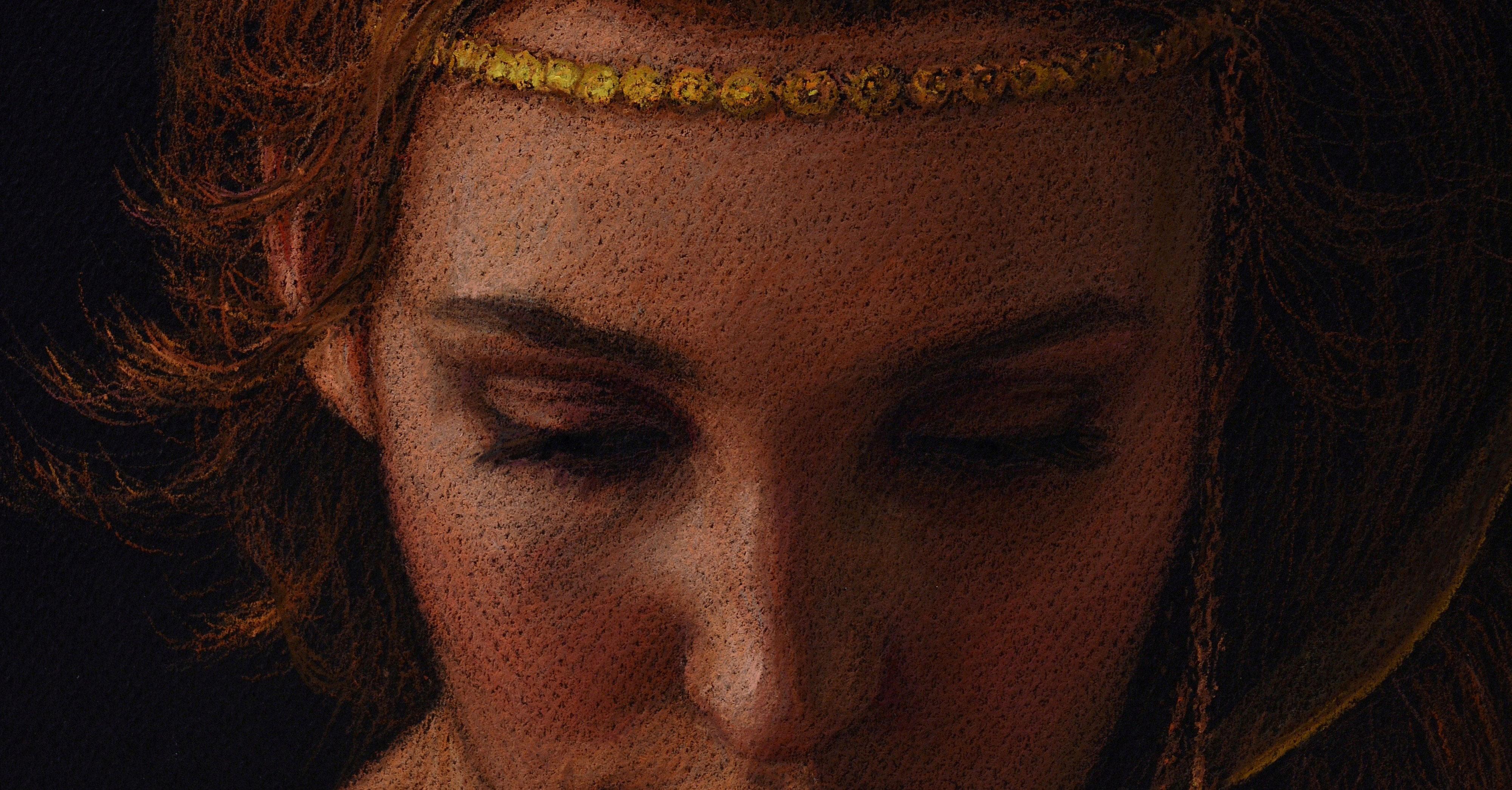 NIGHT. Pastello su carta Angel of Cáceres García (2015)