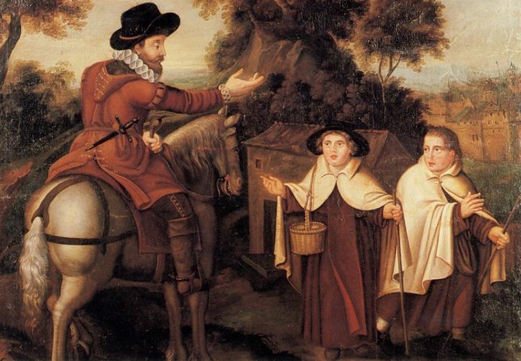 quadro situato nel monastero delle Carmelitane Bruxelles, XVII secolo